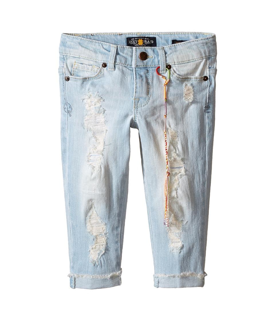 Lucky Brand Kids Bleack Ankle Zoe Top Little Kids Cloud Beach Wash Girls Jeans