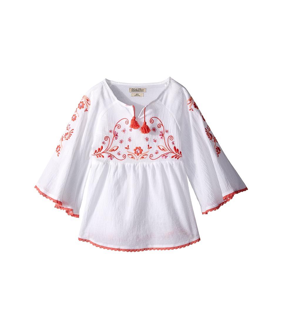 Lucky Brand Kids 3/4 Sleeve Mallory Top Little Kids Bright White Girls Blouse