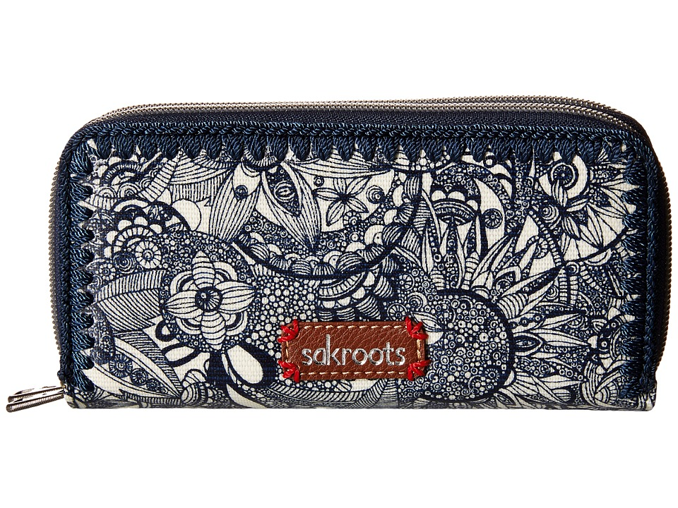 Sakroots - Artist Circle Double Zip Wallet (Navy Spirit Desert) Wallet Handbags