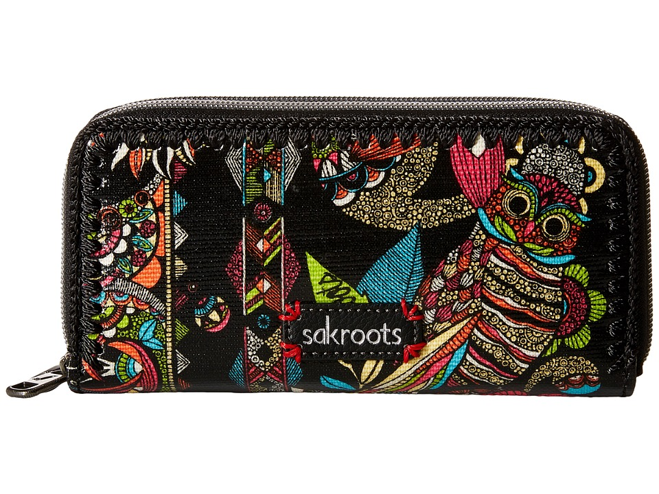 Sakroots - Artist Circle Double Zip Wallet (Neon Spirit Desert) Wallet Handbags