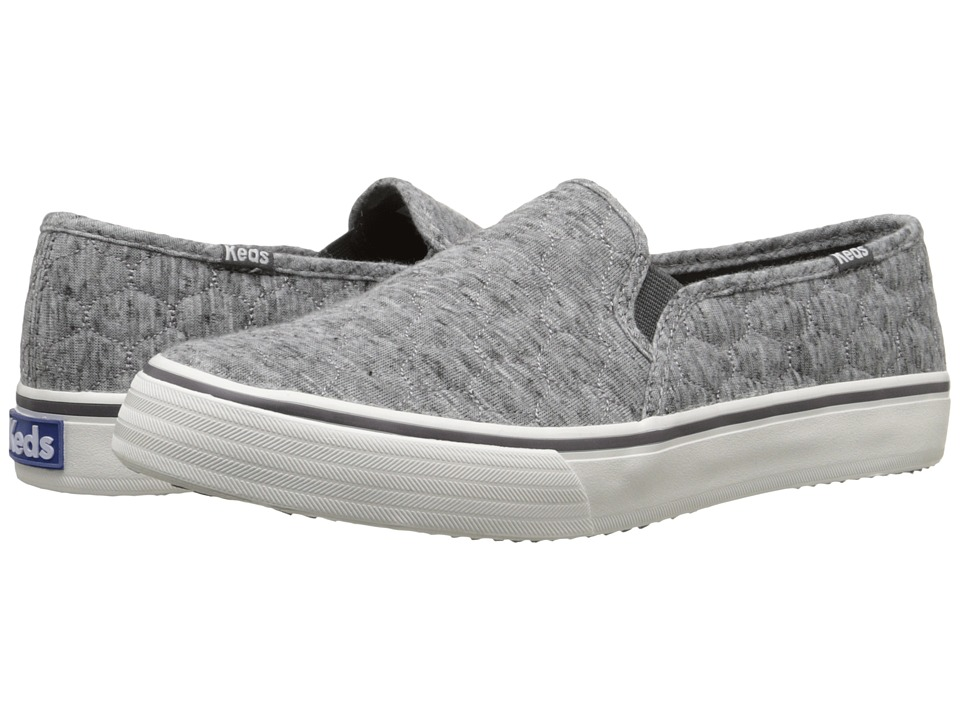 Keds - Double Decker Quilted Jersey (Heathered Charcoal 2) Women