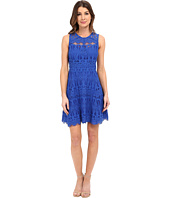 Adelyn Rae - Lace Fit and Flare Dress w/ Gro Grain Contrast Trim