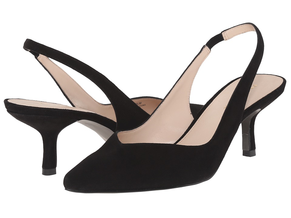 Pelle Moda Oasis (Black Kid Suede) High Heels