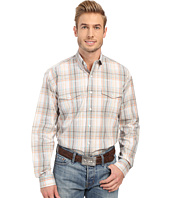Stetson - Sand Plaid Button Front Long Sleeve Shirt