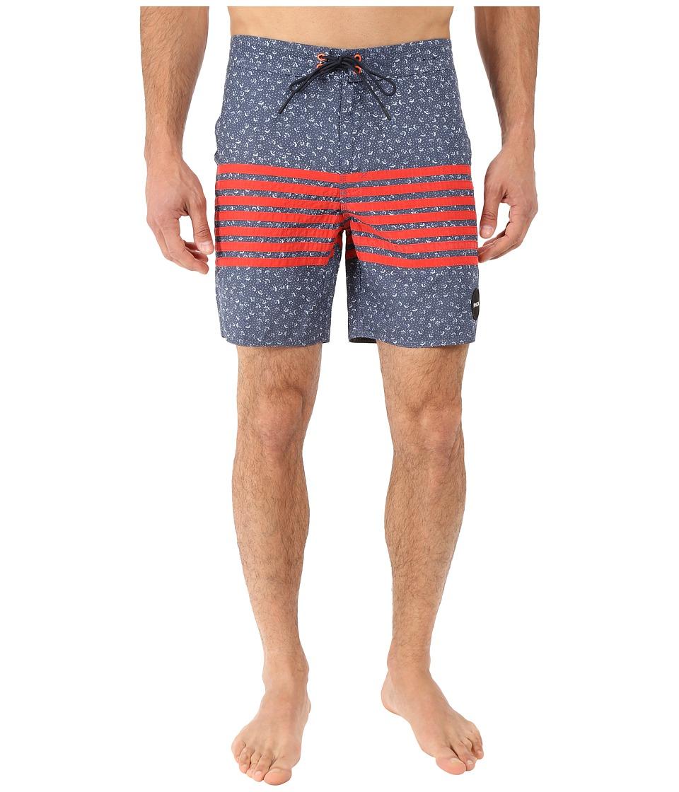 RVCA Sin in Peace Trunk Dark Denim Mens Swimwear