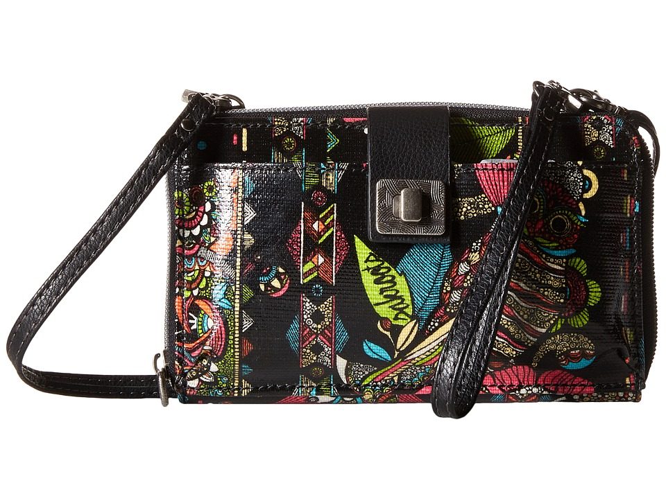 Sakroots - Artist Circle Large Smartphone Crossbody (Neon Spirit Desert) Clutch Handbags