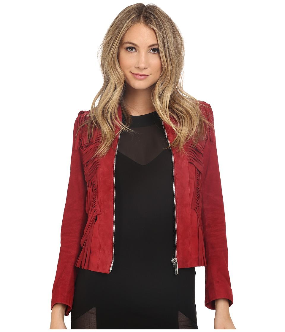 Nour Hammour Fallaway Crimson Womens Coat