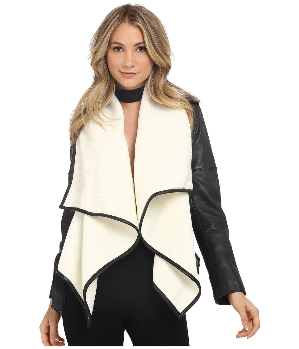 Nour Hammour The Hours Black/Off White Womens Coat