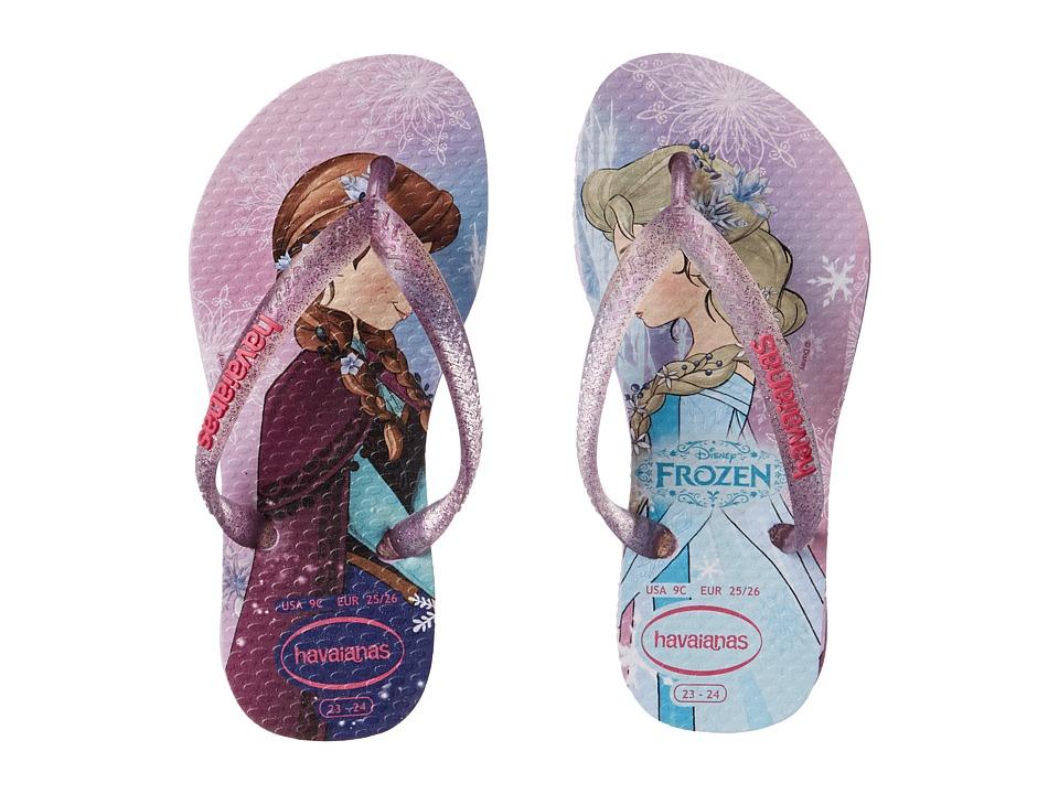 Havaianas Kids - Slim Princess Disney Flip Flops (Toddler/Little Kid/Big Kid) (Lilac) Girl