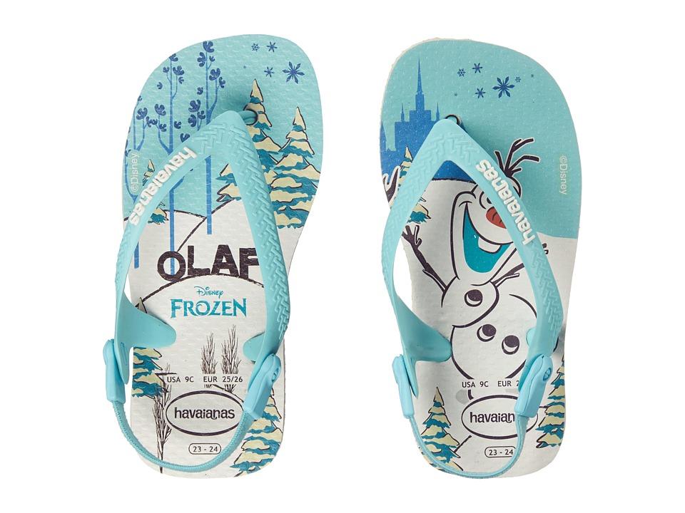 Havaianas Kids Baby Frozen Flip Flops Toddler White Girls Shoes
