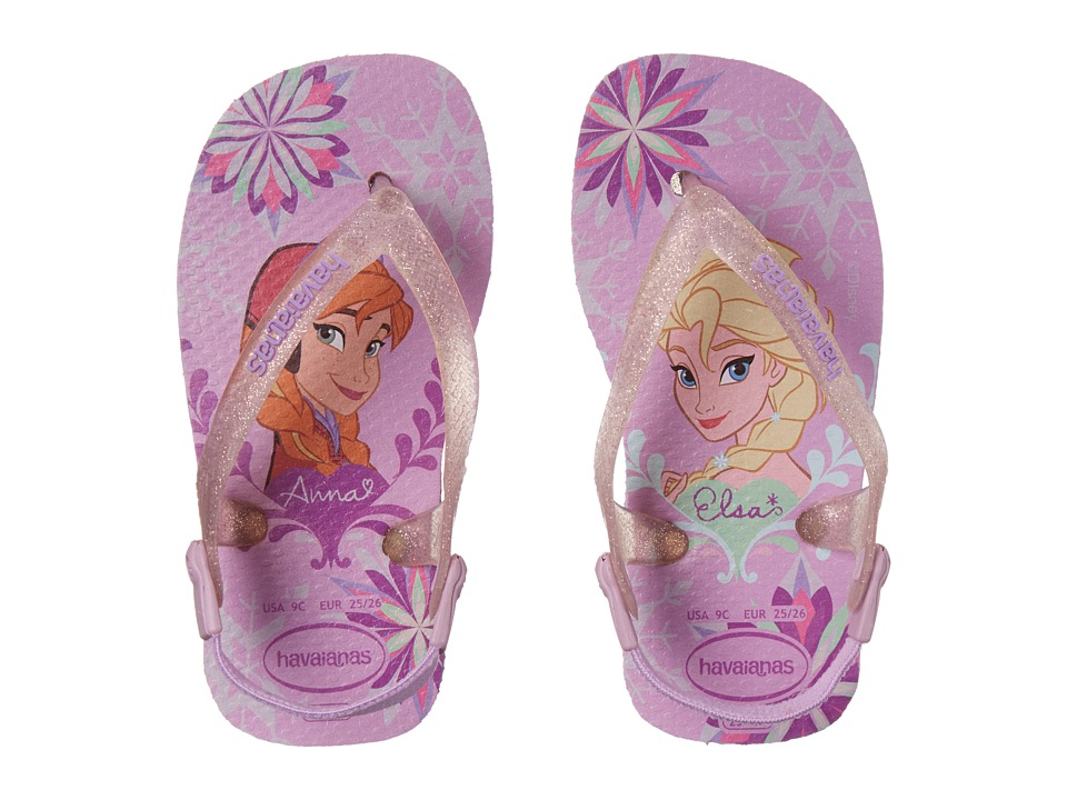 Havaianas Kids Baby Frozen Flip Flops Toddler Lilac Girls Shoes