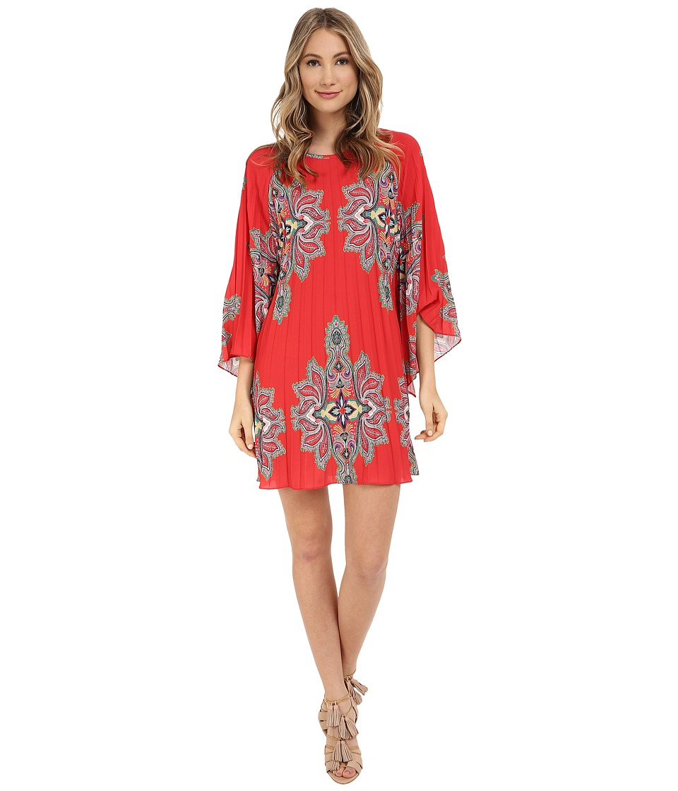 Nicole Miller Bali Melanie Permanent Pleat Dress Multi Womens Dress