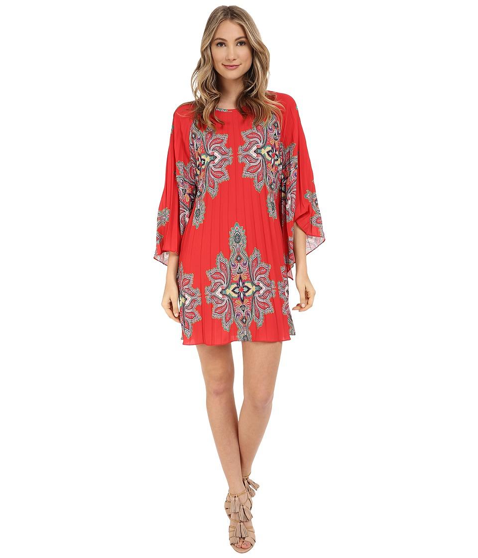 Nicole Miller Bali Melanie Permanent Pleat Dress Multi Womens Dress