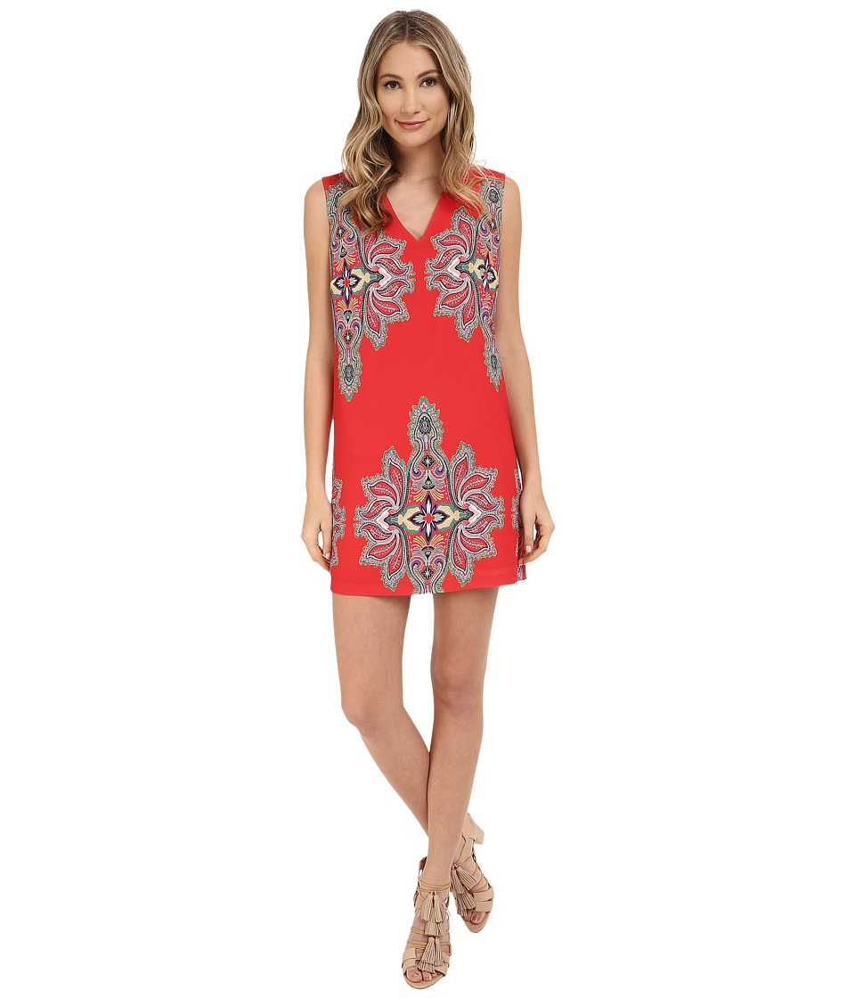 Nicole Miller Bali Shift Dress Multi Womens Dress