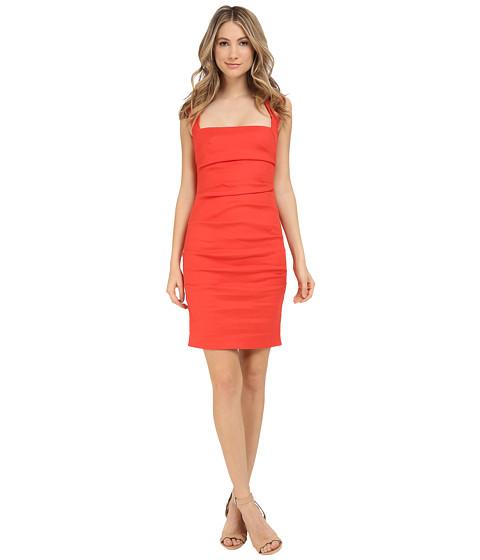 Nicole Miller Stretch Linen Cutout Back Dress