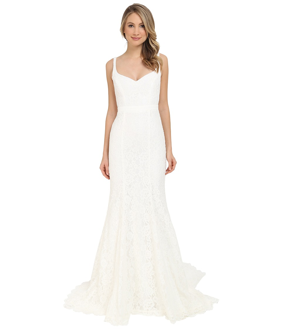 Nicole Miller Janey Lace Gown (Ivory) Women's Dress