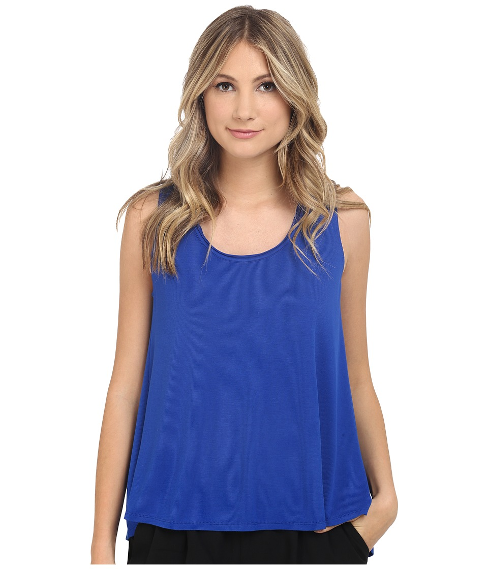 HEATHER Scoop Neck Boxy Tee Cobalt 1 Womens Short Sleeve Pullover