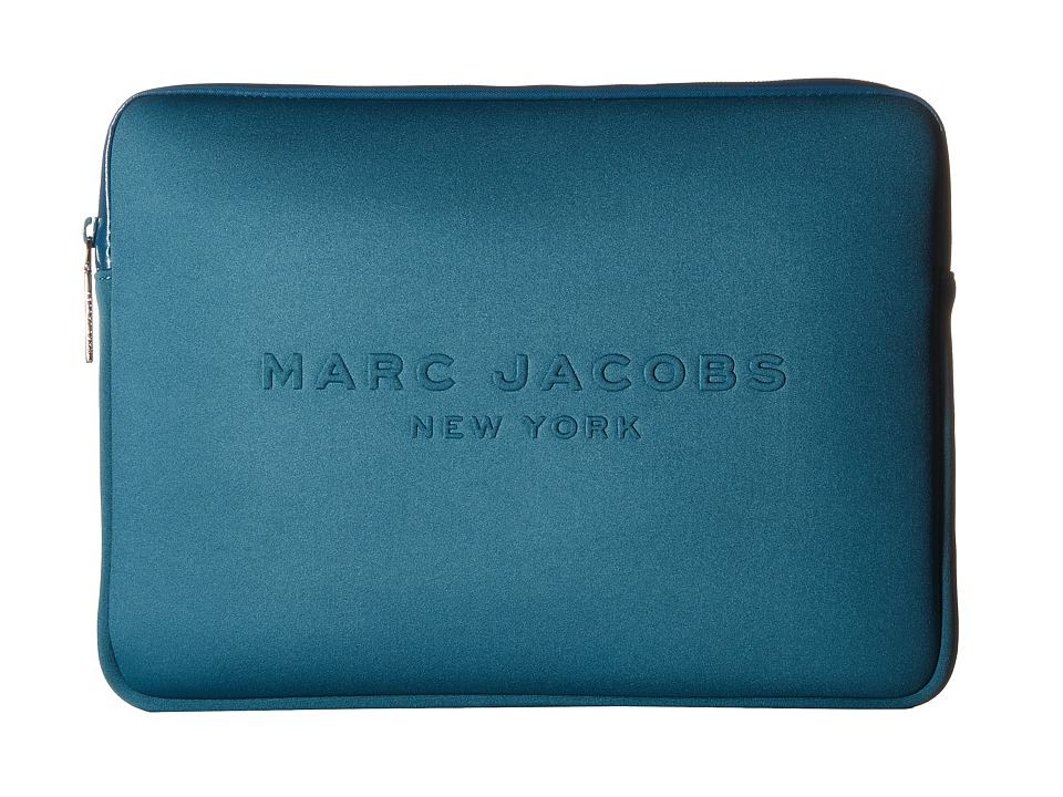 Marc Jacobs - Neoprene Tech 13 Computer Case (Teal) Computer Bags