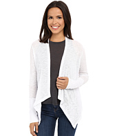 Stetson - White Slubby Burnout Long Sleeve Cardigan