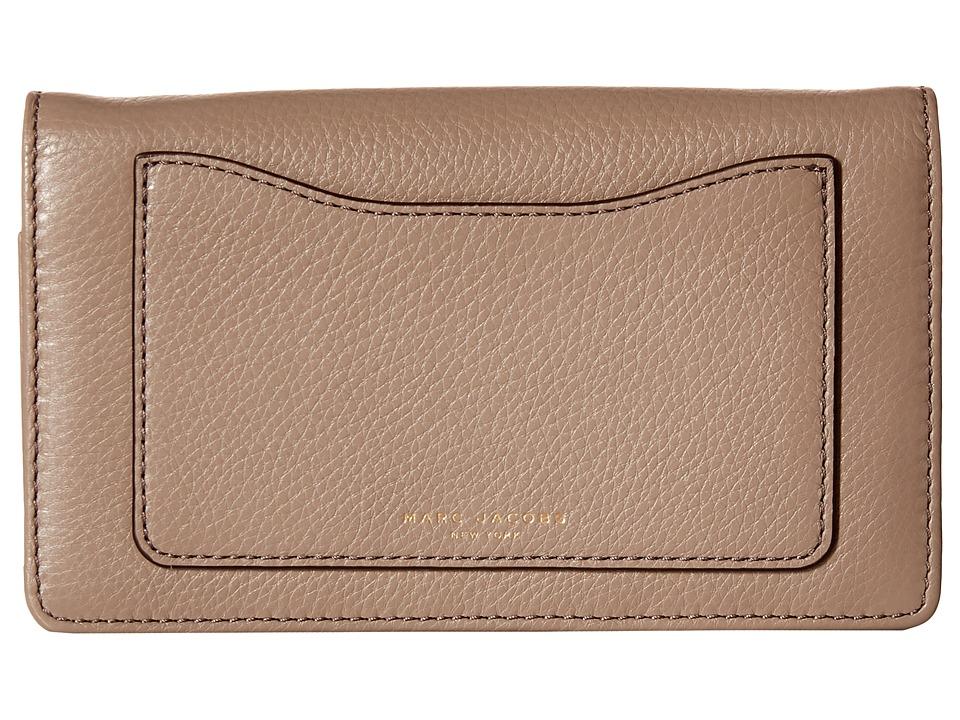Marc Jacobs Recruit Wallet Leather Strap Mink Wallet Handbags