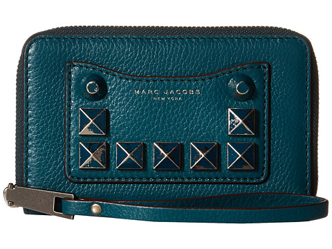 Marc Jacobs Recruit Chipped Studs Zip Phone Wristlet