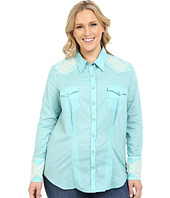 Stetson - Plus Size Solid Lawn Long Sleeve Western Shirt