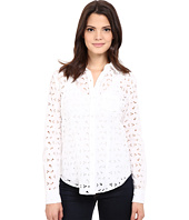 Stetson - Optic White Eyelet Long Sleeve Western Shirt