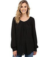 Stetson - Solid Crepe Long Sleeve Peasant Blouse