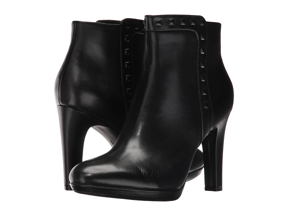 Rockport Seven To 7 Ally Stud Bootie (Black Leather) Women