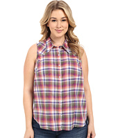 Stetson - Plus Size Orchid Plaid Sleeveless Western Shirt