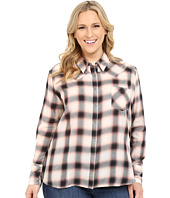 Stetson - Plus Size Cameo Plaid Long Sleeve Peasant Top