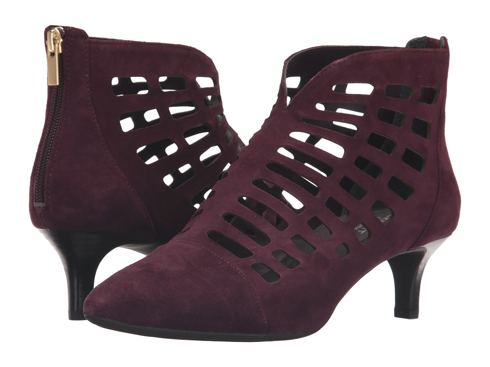 Rockport Total Motion Kalila Cut Out (Dark Vino Suede) Women