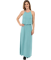 Stetson - Turquoise Rayon Spandex Maxi Dress