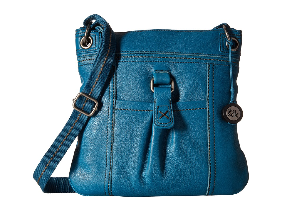 The Sak - Kendra Leather Crossbody (Azure) Cross Body Handbags