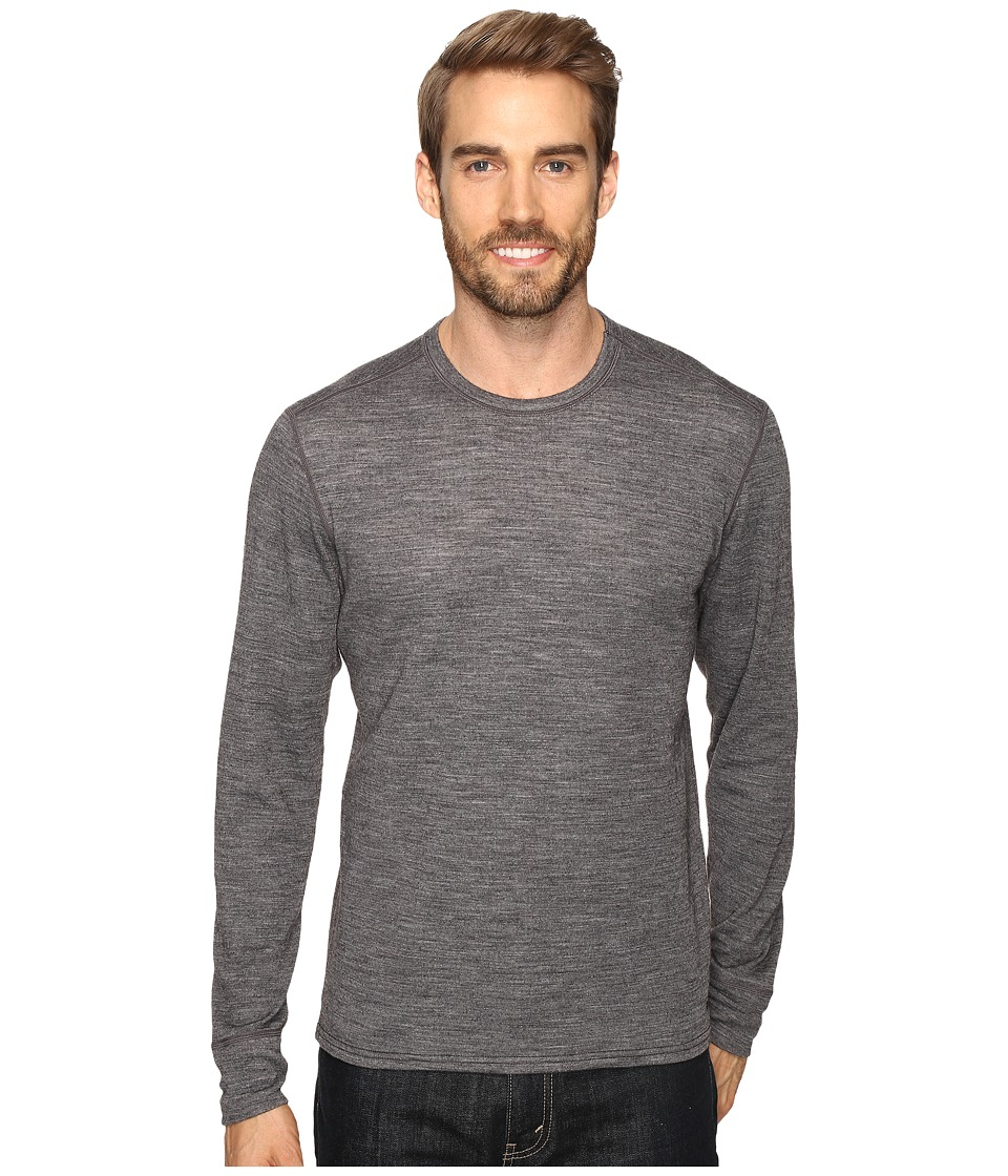 Hot Chillys Wool Double Layer Crew Neck (Charcoal Heather) Men