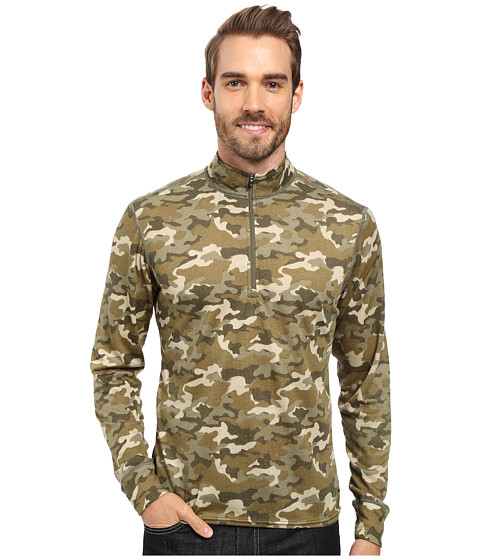 Hot Chillys Double Layer Zip-T - Camo