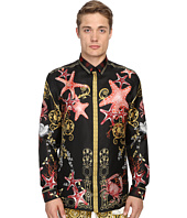 Versace Collection - Baroque Starfish Silk Button Up