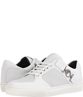 Versace Collection - Leather and Perforated Side-Medallion Sneaker