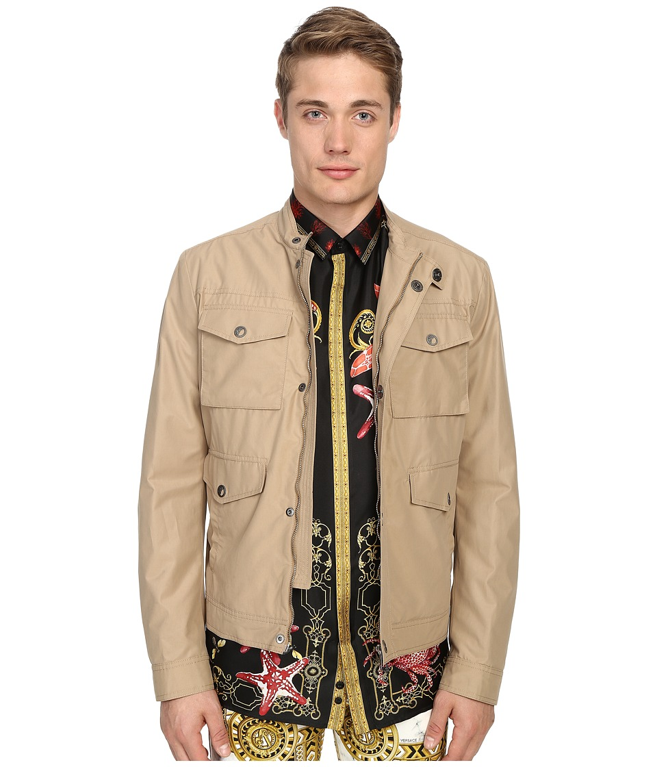 Versace Collection Four Pocket Jacket Sabbia Mens Coat