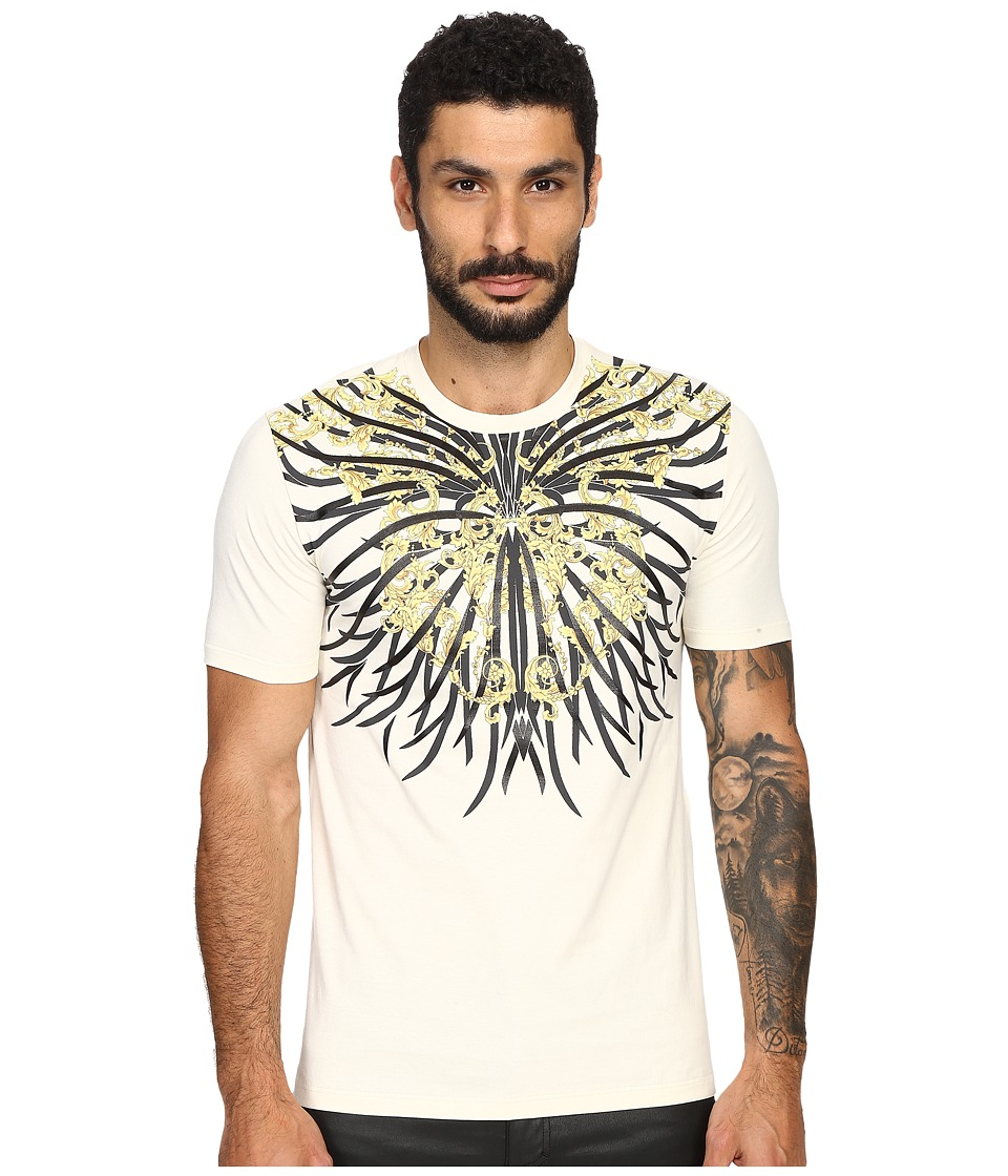 Versace Collection Sea Roots T Shirt Print White Mens T Shirt