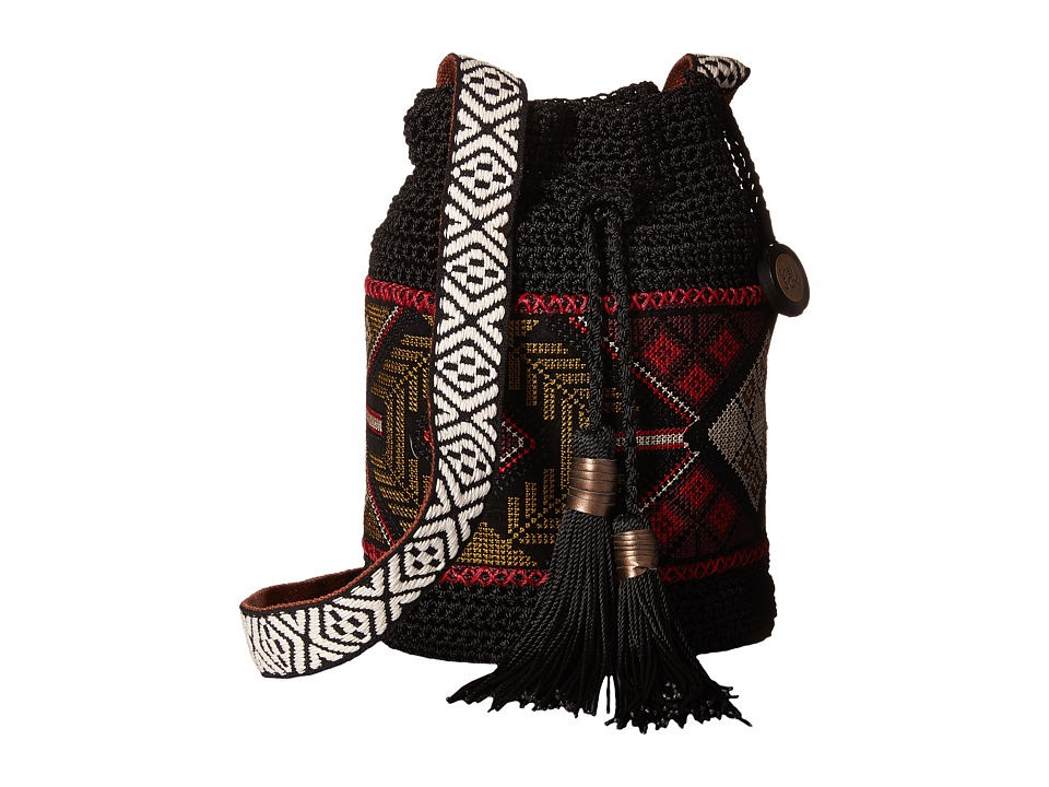 The Sak - Sayulita Drawstring (Black Tribal) Drawstring Handbags