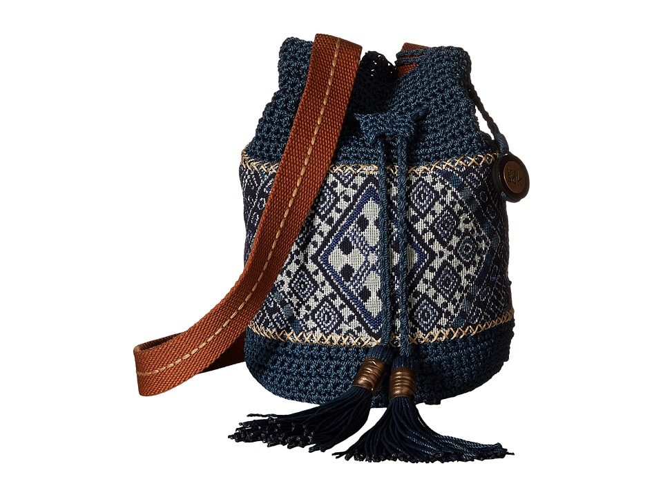 The Sak - Sayulita Drawstring (Blue Diamond) Drawstring Handbags