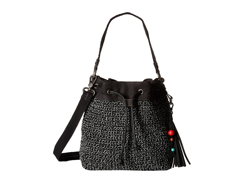 The Sak - Ukiah Crochet Drawstring (Black Static) Drawstring Handbags