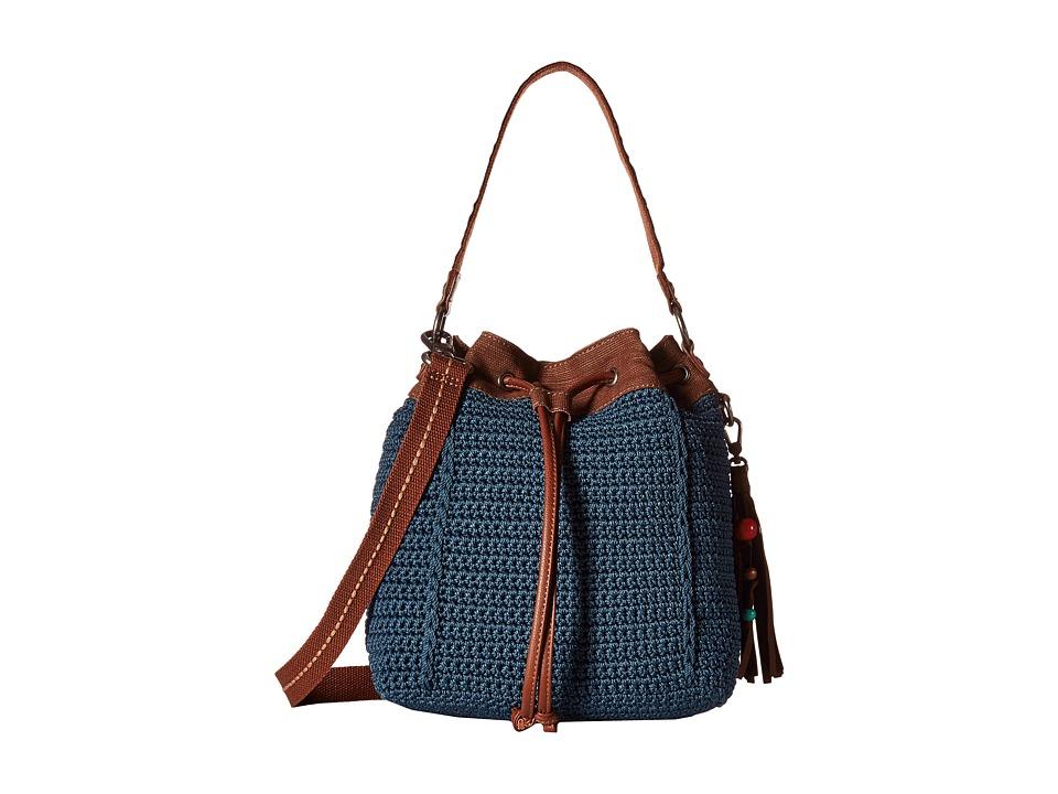 The Sak - Ukiah Crochet Drawstring (Vintage Blue) Drawstring Handbags