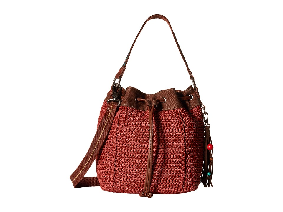 The Sak - Ukiah Crochet Drawstring (Sienna) Drawstring Handbags