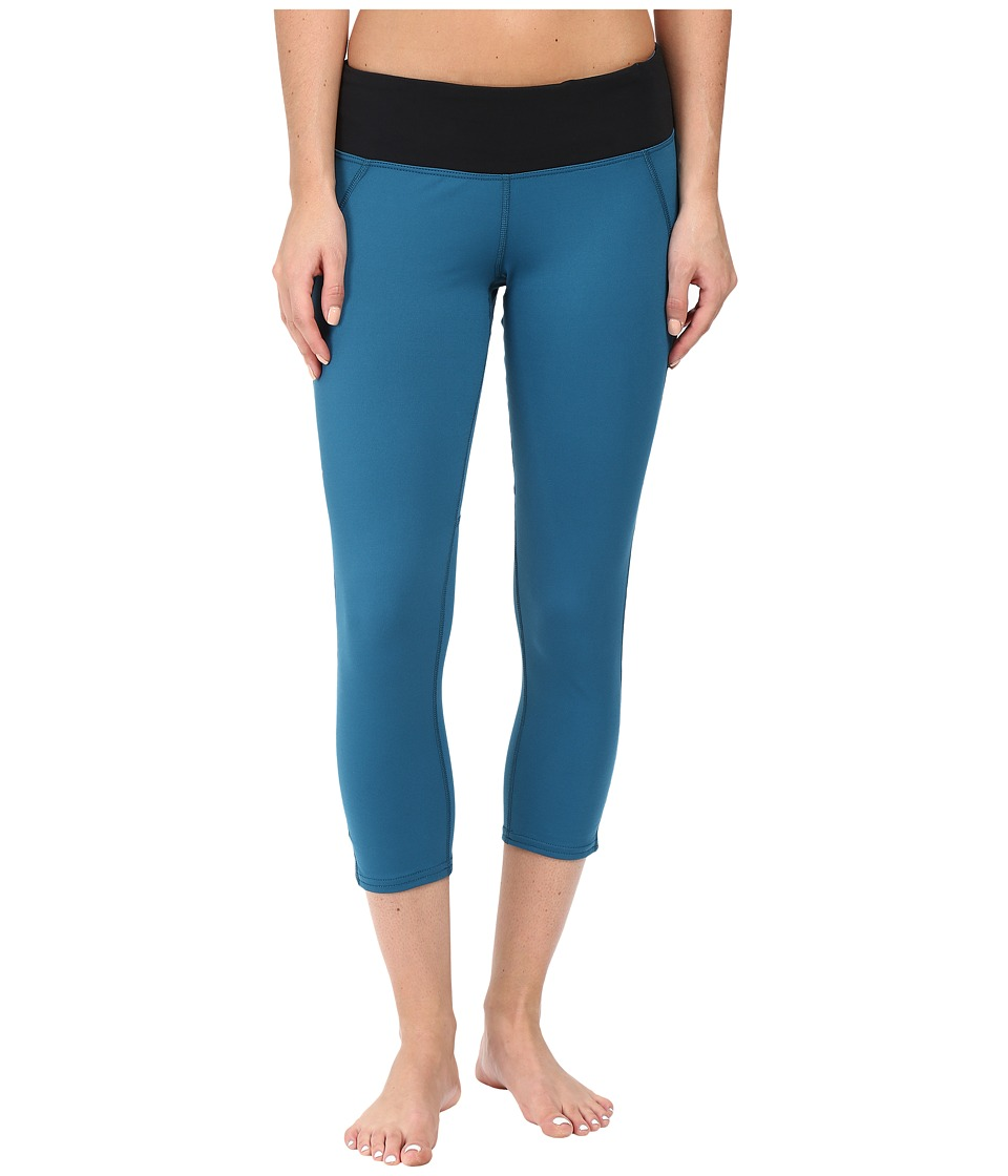 Hot Chillys MTF Flex Capris (Lagoon/Black) Women