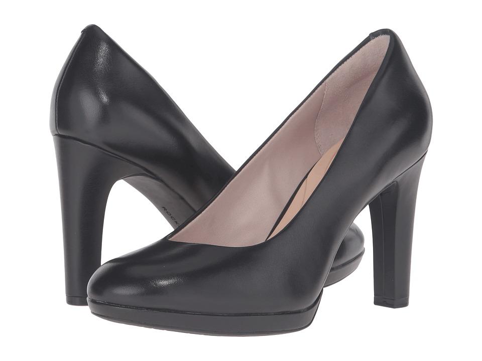 Rockport Seven To 7 Ally Plain Pump (Black Burn Calf) Women's Shoes