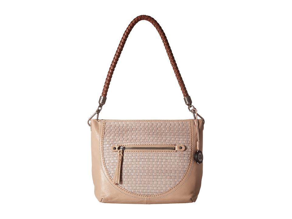 The Sak - Indio Leather Demi (Taupe Sparkle) Shoulder Handbags