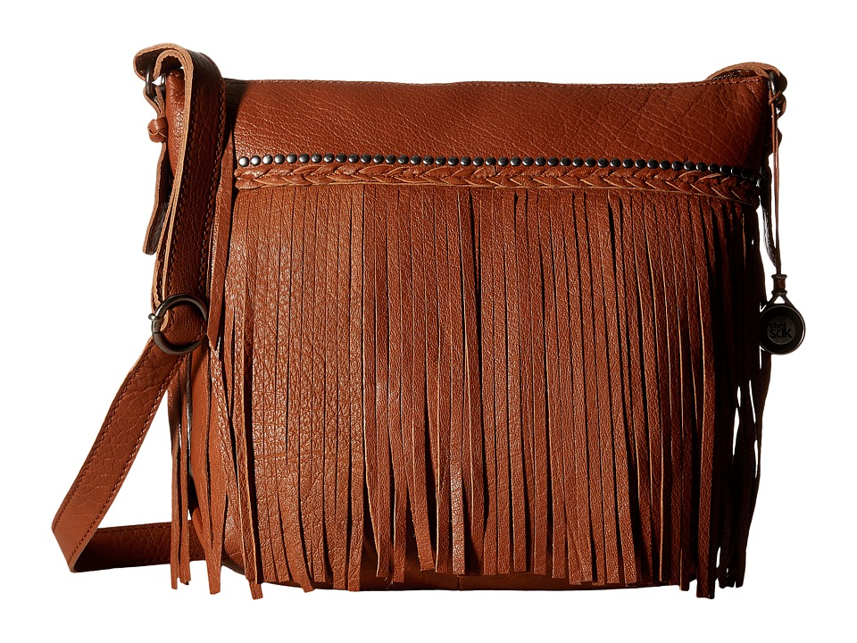 The Sak - Sierra Small Bucket (Tobacco Fringe) Satchel Handbags