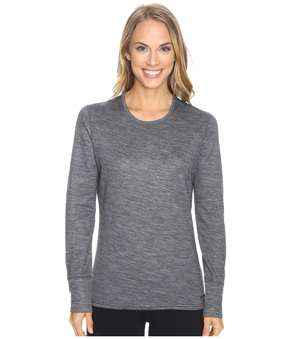Hot Chillys Wool Double Layer Crew Neck (Charcoal Heather) Women
